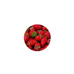 Strawberries Berries Fruit 1  Mini Buttons