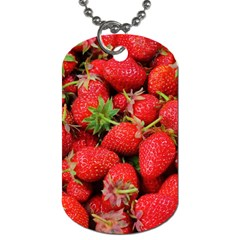 Strawberries Berries Fruit Dog Tag (one Side)