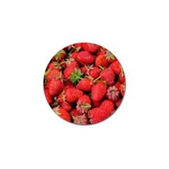 Strawberries Berries Fruit Golf Ball Marker (10 Pack)