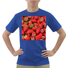 Strawberries Berries Fruit Dark T Shirt