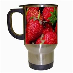 Strawberries Berries Fruit Travel Mugs (white)