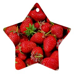 Strawberries Berries Fruit Star Ornament (two Sides)