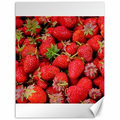 Strawberries Berries Fruit Canvas 12  X 16