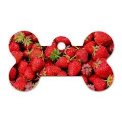 Strawberries Berries Fruit Dog Tag Bone (one Side)
