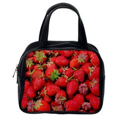 Strawberries Berries Fruit Classic Handbags (one Side)