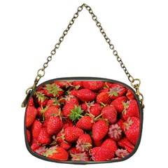 Strawberries Berries Fruit Chain Purses (two Sides)