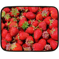 Strawberries Berries Fruit Double Sided Fleece Blanket (mini)