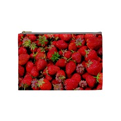 Strawberries Berries Fruit Cosmetic Bag (medium)