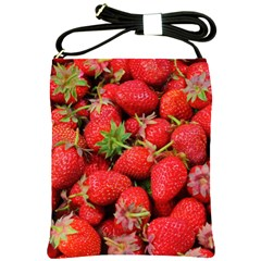 Strawberries Berries Fruit Shoulder Sling Bags