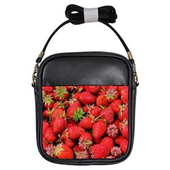 Strawberries Berries Fruit Girls Sling Bags