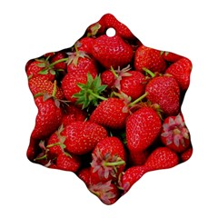 Strawberries Berries Fruit Snowflake Ornament (two Sides)