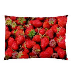 Strawberries Berries Fruit Pillow Case (two Sides)