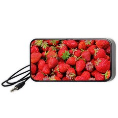 Strawberries Berries Fruit Portable Speaker (black)