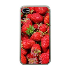 Strawberries Berries Fruit Apple Iphone 4 Case (clear)