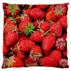 Strawberries Berries Fruit Large Cushion Case (two Sides)