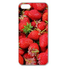 Strawberries Berries Fruit Apple Seamless Iphone 5 Case (clear)
