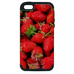 Strawberries Berries Fruit Apple Iphone 5 Hardshell Case (pc+silicone)