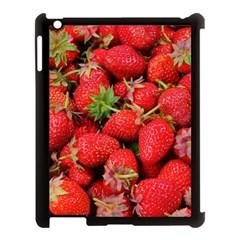 Strawberries Berries Fruit Apple Ipad 3/4 Case (black)