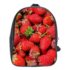 Strawberries Berries Fruit School Bag (xl)