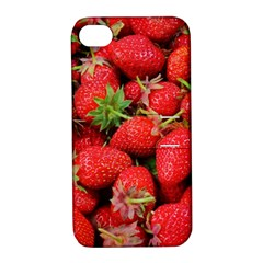 Strawberries Berries Fruit Apple Iphone 4/4s Hardshell Case With Stand