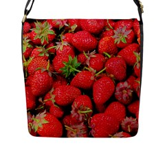 Strawberries Berries Fruit Flap Messenger Bag (l)