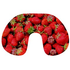 Strawberries Berries Fruit Travel Neck Pillows