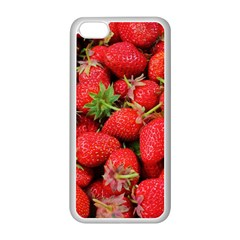 Strawberries Berries Fruit Apple Iphone 5c Seamless Case (white)