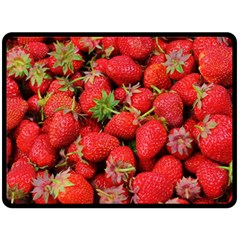 Strawberries Berries Fruit Double Sided Fleece Blanket (large)
