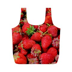 Strawberries Berries Fruit Full Print Recycle Bags (m)