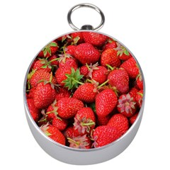 Strawberries Berries Fruit Silver Compasses