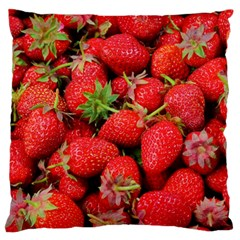 Strawberries Berries Fruit Large Flano Cushion Case (one Side)