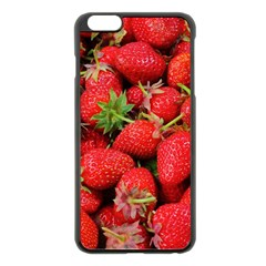 Strawberries Berries Fruit Apple Iphone 6 Plus/6s Plus Black Enamel Case