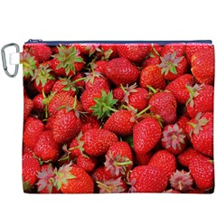 Strawberries Berries Fruit Canvas Cosmetic Bag (xxxl)