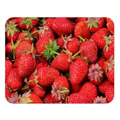 Strawberries Berries Fruit Double Sided Flano Blanket (large)