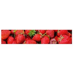 Strawberries Berries Fruit Flano Scarf (small)