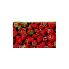 Strawberries Berries Fruit Cosmetic Bag (xs)