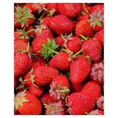 Strawberries Berries Fruit Drawstring Bag (small)