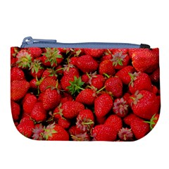 Strawberries Berries Fruit Large Coin Purse