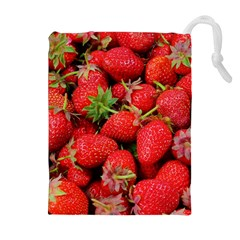Strawberries Berries Fruit Drawstring Pouches (extra Large)