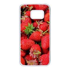 Strawberries Berries Fruit Samsung Galaxy S7 White Seamless Case