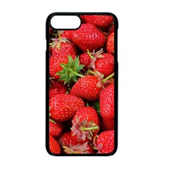 Strawberries Berries Fruit Apple Iphone 7 Plus Seamless Case (black)