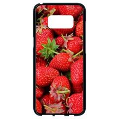 Strawberries Berries Fruit Samsung Galaxy S8 Black Seamless Case