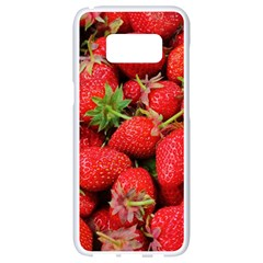 Strawberries Berries Fruit Samsung Galaxy S8 White Seamless Case