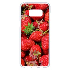 Strawberries Berries Fruit Samsung Galaxy S8 Plus White Seamless Case
