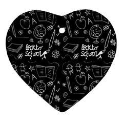 Back To School Ornament (heart)