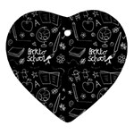 Back to School Ornament (Heart) Front