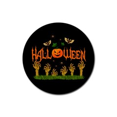 Halloween Rubber Round Coaster (4 Pack)