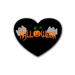 Halloween Rubber Coaster (heart)