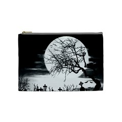 Halloween Landscape Cosmetic Bag (medium)