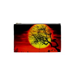 Halloween Landscape Cosmetic Bag (small)